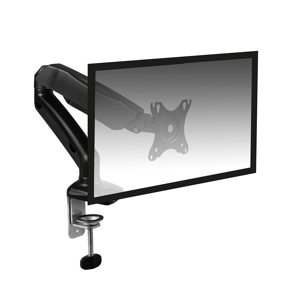 Desk Mount with gas spring for 1 monitor up to 32 inch with VESA