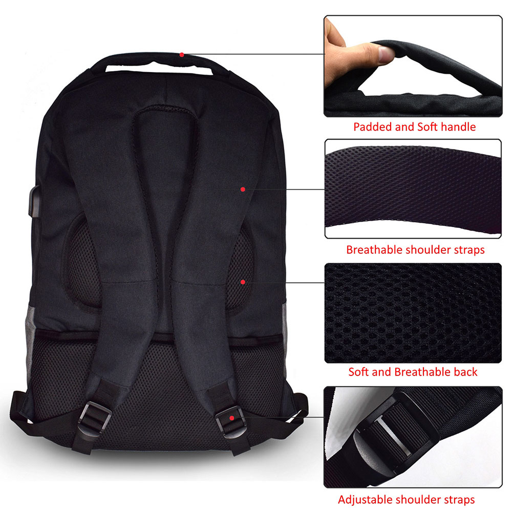 Urban Notebook Backpack 17.3 inch with USB outlet