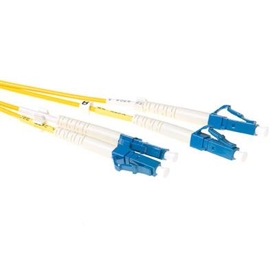 1 meter LSZH Singlemode 9/125 OS2 fiber patch cable duplex with LC connectors