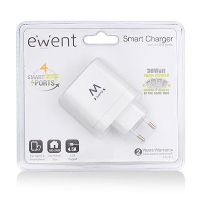 4-Ports Smart USB Charger