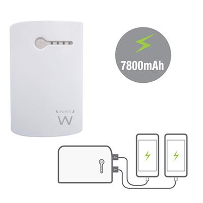 Portable Dual USB Power Bank 7800mAh