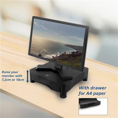 Monitor Riser with useful drawer