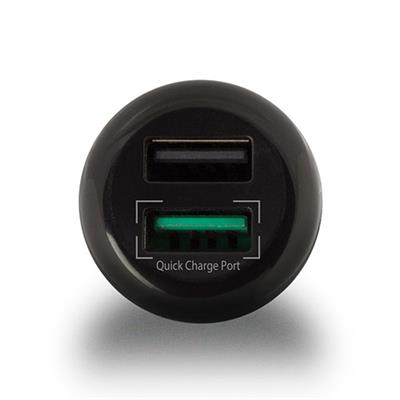 2-Port USB Car Charger 5A including 1 Quick Charge 3.0 port