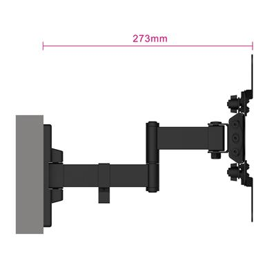 Easy Turn TV Wall Mount M with 3 pivot points