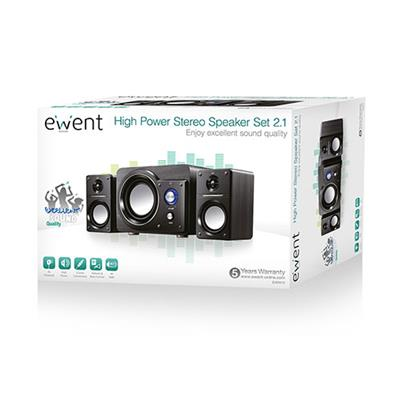 High Power Stereo Speakers 2.1 with Subwoofer