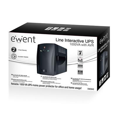 Line Interactive UPS 1000 VA – 510W with AVR (Succeeded by EW3947)
