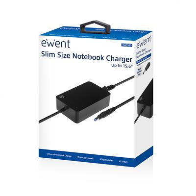 Slim size Notebook Charger (for notebooks up to 15,6 inch)