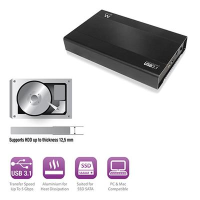 "USB 3.1 Gen1 (USB 3.0) 2.5"" SATA Hard Disk and SSD Enclosure"