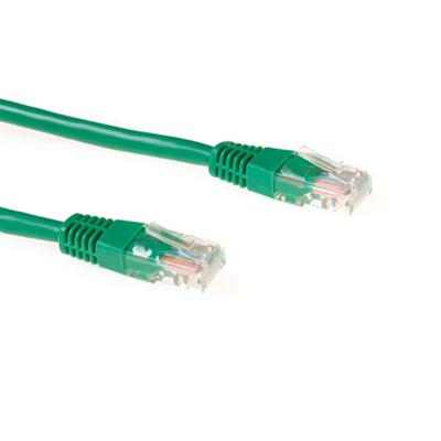 Green 1.5 meter U/UTP CAT5E CCA patch cable with RJ45 connectors
