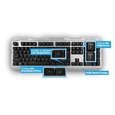 Play Illuminated Metal Gaming Keyboard (QWERTZ - German layout)